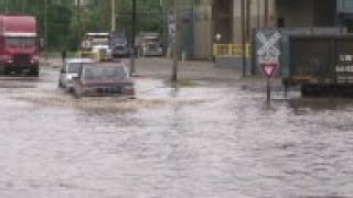 Strong rains resulted in flooding in the Houston area, with some motorists needing to be rescued and
