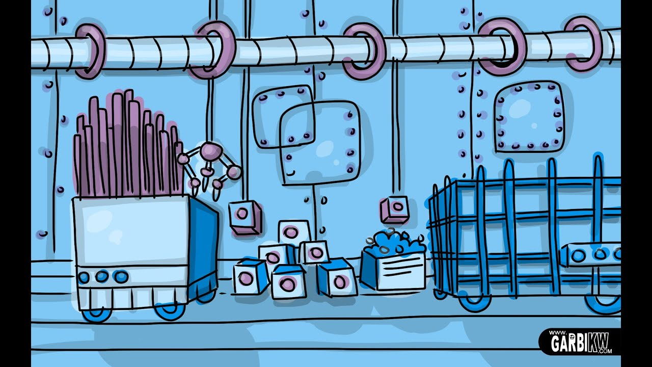 How To Draw A Factory - Cartoon Backgrounds by Garbi KW ...
