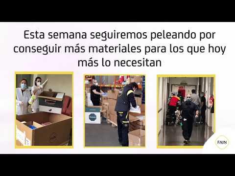 DONACIONES De FAIN A Hospitales Y Residencias