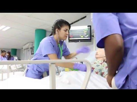 Simulador de alta resolución en Antilles College - Lab. Enfermería Práctica