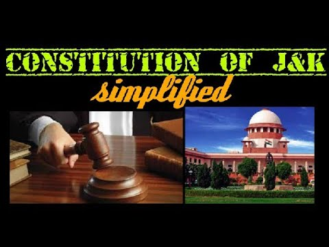Constitution of J&K for competitive exams!