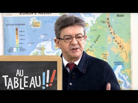 """Jean-Luc Mélenchon au tableau : """"Entre Marine Le Pen et moi, il y a un fossé"""""""