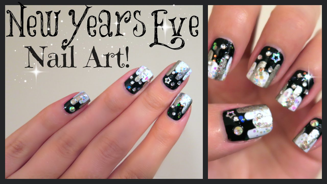 New Years Eve Nail Art! No Tools Needed!!! | MissJenFABULOUS - YouTube