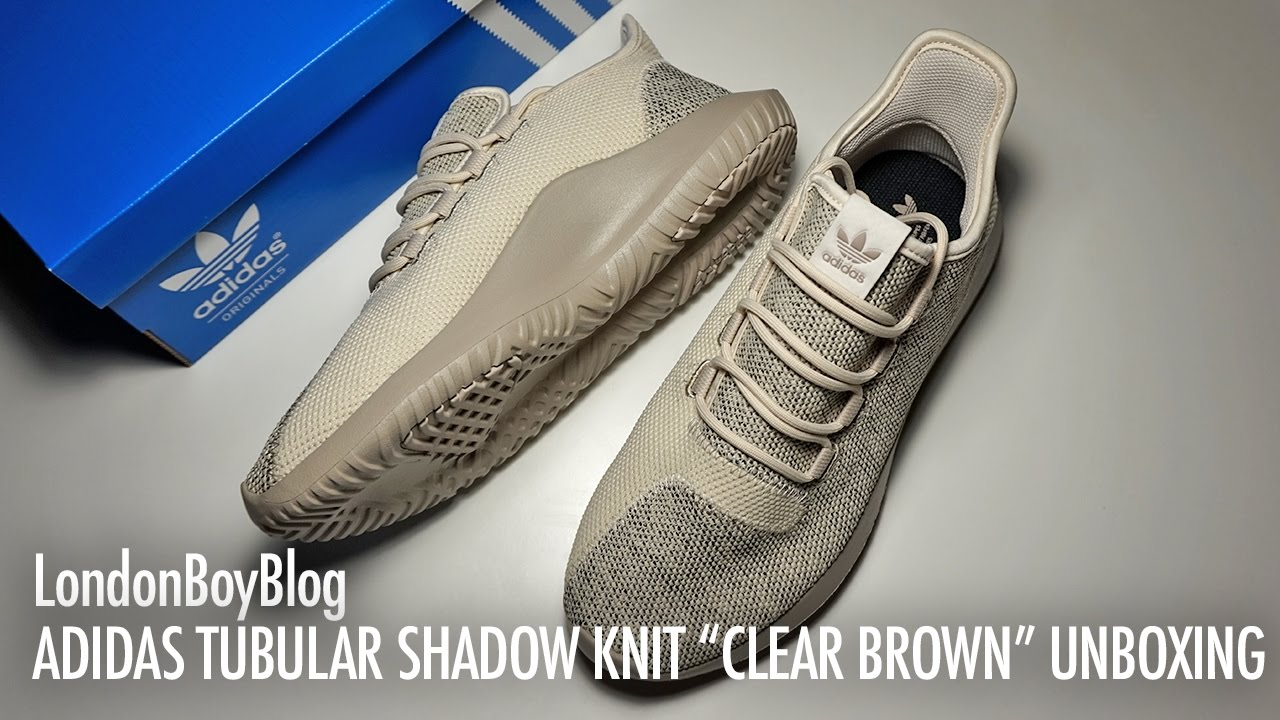 adidas men's tubular shadow knit light brown