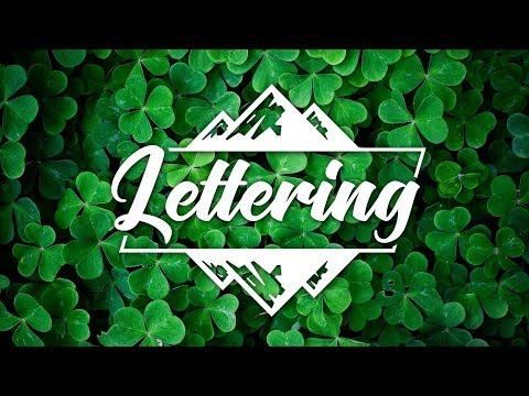 Видеоурок: Как сделать текстовый логотип в Фотошопе   How To Make Lettering Text Logo In Photoshop