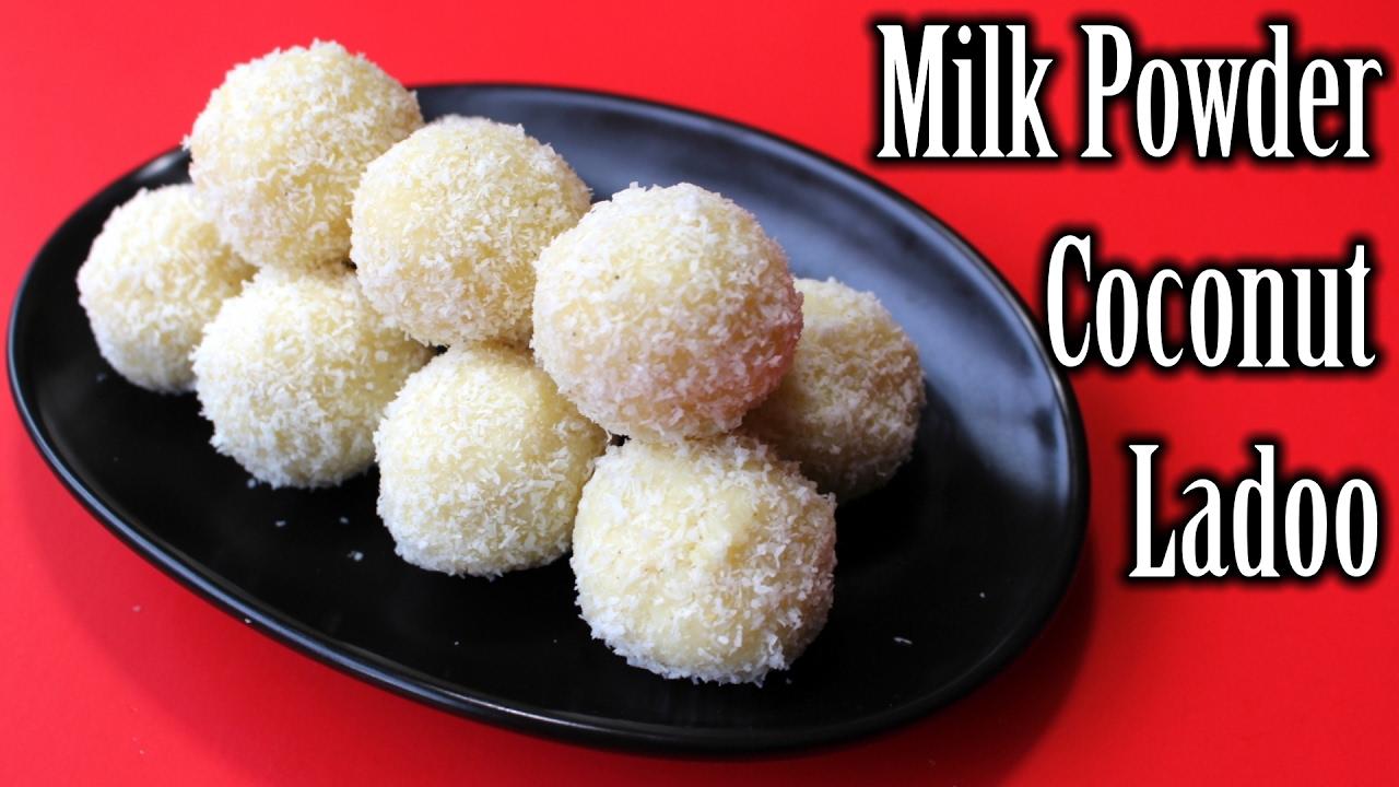Milk Powder Coconut Ladoo Recipe | Easy Milk Powder Sweets ...