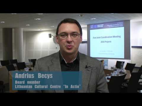 """Video statement by Mr Andrius Becys, Board member, Lithuanian Cultural Centre """"In Actio"""""""