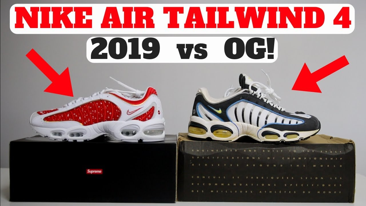 d75e03e3 2019 SUPREME x NIKE AIR MAX TAILWIND 4 vs ORIGINAL 1999 PAIR! - YouTube
