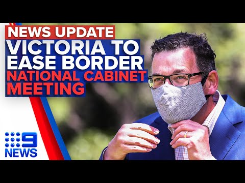 Victoria eases border restrictions, Leaders discuss international arrivals | 9 News Australia thumbnail