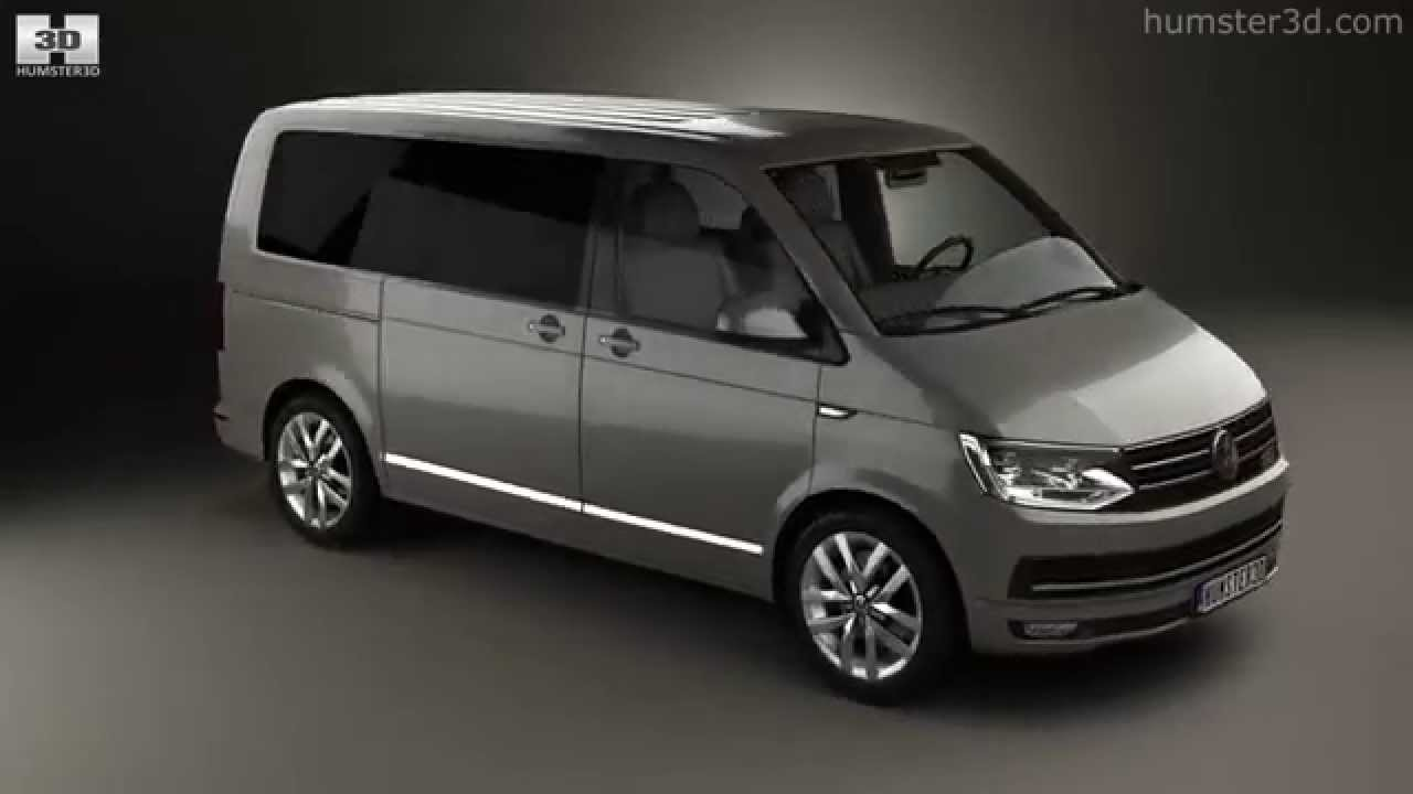 volkswagen transporter t6 multivan 2016 by 3d model. Black Bedroom Furniture Sets. Home Design Ideas
