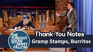 Thank You Notes: Gramp Stamps, Burritos