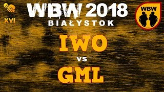 bitwa IWO vs GML # WBW 2018 Białystok (1/4) # freestyle battle