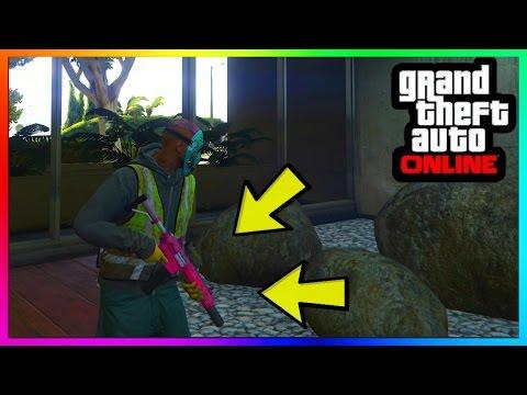 GTA 5 Online: GUNS IN APARTMENT GLITCH +...