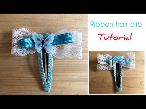 Ribbon Hair Clip Tutorial