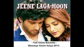Jeene Laga Hoon Clean Karaoke - Ramaiya Vasta Vaiya 2013.