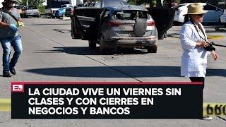Culiacán se guarda tras jornada de bloqueos y balaceras