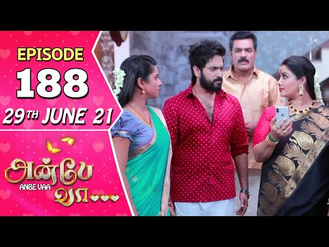 Anbe Vaa Serial | Episode 188 | 29th June 2021 | Virat | Delna Davis | Saregama TV Shows Tamil