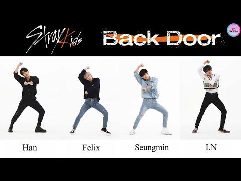 [ENG SUB] Stray Kids 'Back Door' FanCam Maknae Line (Han, Felix, Seungmin, I.N) Dance Comparison