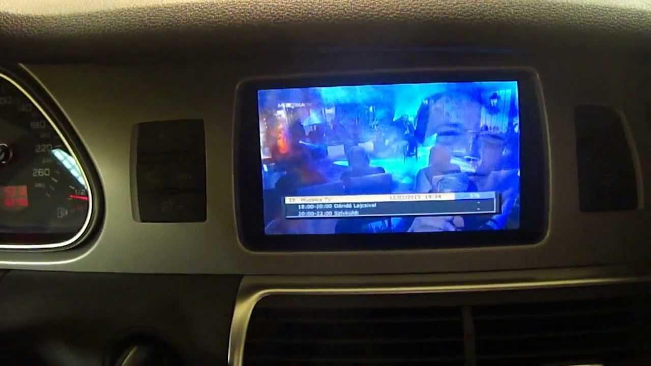 AUDI Q7 3G MMI OEM hybrid TV tuner + Aftermarket Pay TV Mpeg4 TV tuner www.automultimedia.hu ...