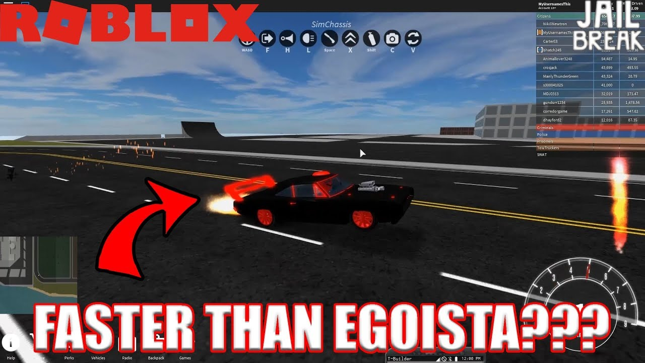 A Car FASTER Than Lamborghini Egoista??? | Roblox Vehicle Sim