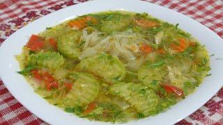 Сварите превосходный овощной суп с кабачками. Любовь с первой ложки. Еда для диабетиков 2 типа.