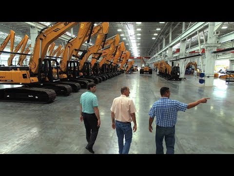 A Sany Excavator Factory Tour Of Sany America- Construction Management.
