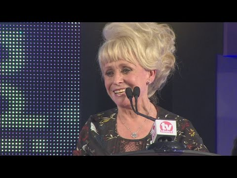 Barbara Windsor gets emotional at TV Choice Awards