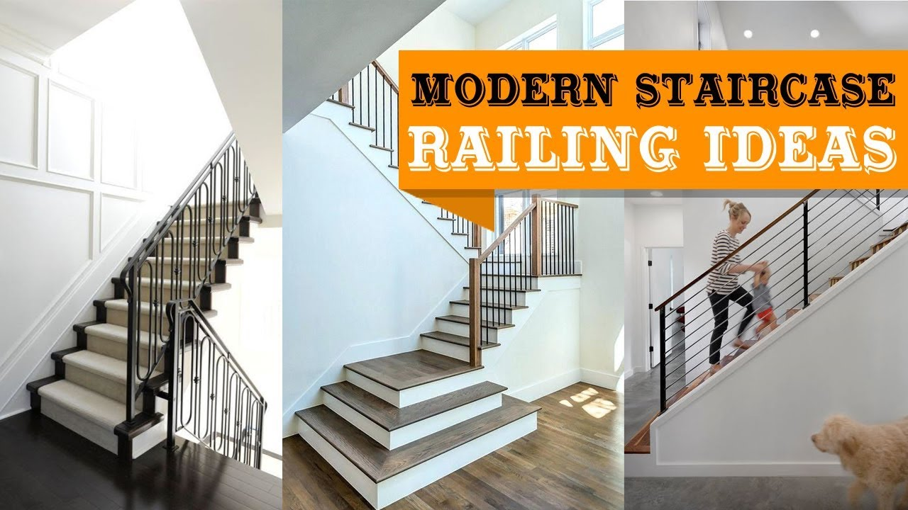100 Modern Staircase Railing Ideas Youtube | Modern Staircases And Railings | Wire | Contemporary | Wood | Futuristic | Elegant