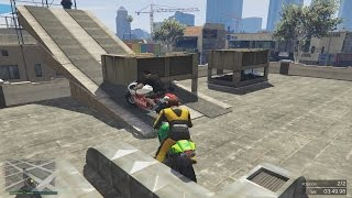 GTA 5 Online ქართულად | Motorcycle Parkour + Lucky Stunt [LP#47]