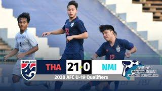 ไฮไลท์เต็ม ไทย 21-0 นอร์เธิร์น มาเรียนา | 2020 AFC U-19 Qualifiers 6-11-19