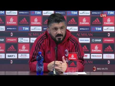 Gattuso conferenza pre Milan - Hellas Verona [FULL HD] 04.05.2018