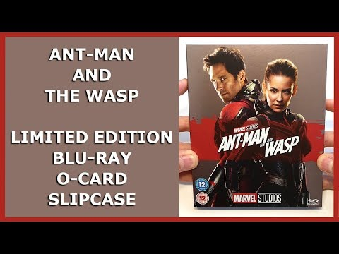 ANT-MAN AND THE WASP - LIMITED EMBOSSED BLU-RAY O-CARD SLIPCASE UNBOXING