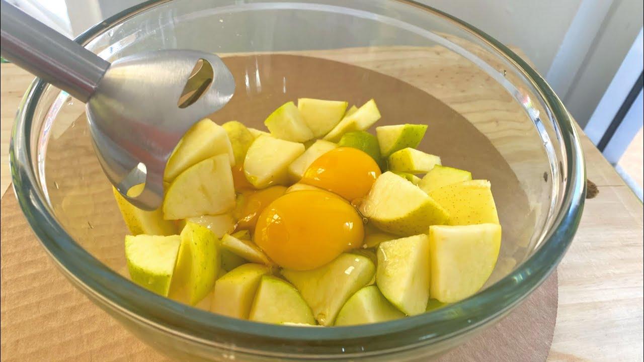 Bate manzana con huevo y el resultado te encantara¡¡¡