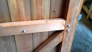Beast & Security shed range's hinge, lock, door & framework