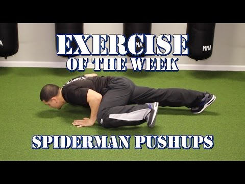 How To: Spiderman Pushup GREAT Core Strengthening Exercise (Body Weight)