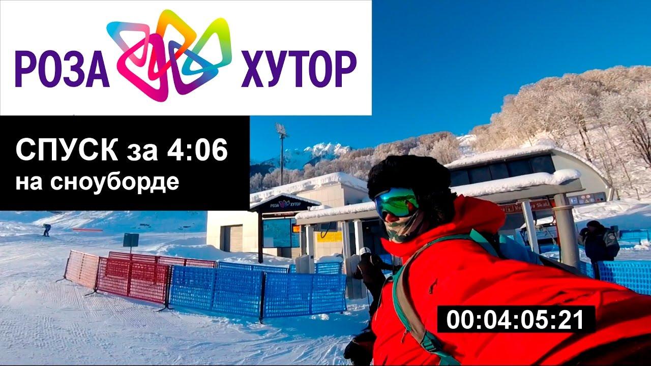 Самый быстрый сноубордист на Розе Хутор. Спуск за 4:06