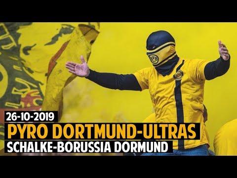 BVB-Ultras Pyro In Gelsenkirchen | Schalke 04 - Borussia Dortmund 2019.10.26 | S04 - BVB 0:0