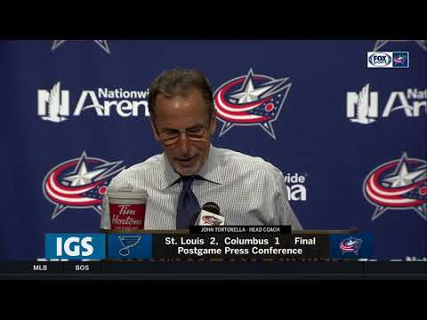 John Tortorella credits Allen, praises team's effort l BLUE JACKETS-BLUES POSTGAME