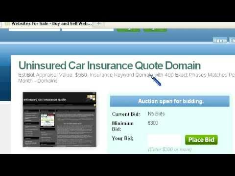 Uninsured Car Insurance Quote Domain For Sale
