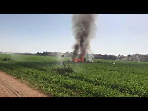 Vídeo accidente Eurofighter - Base Aérea de Los Llanos de Albacete - 12-10-17