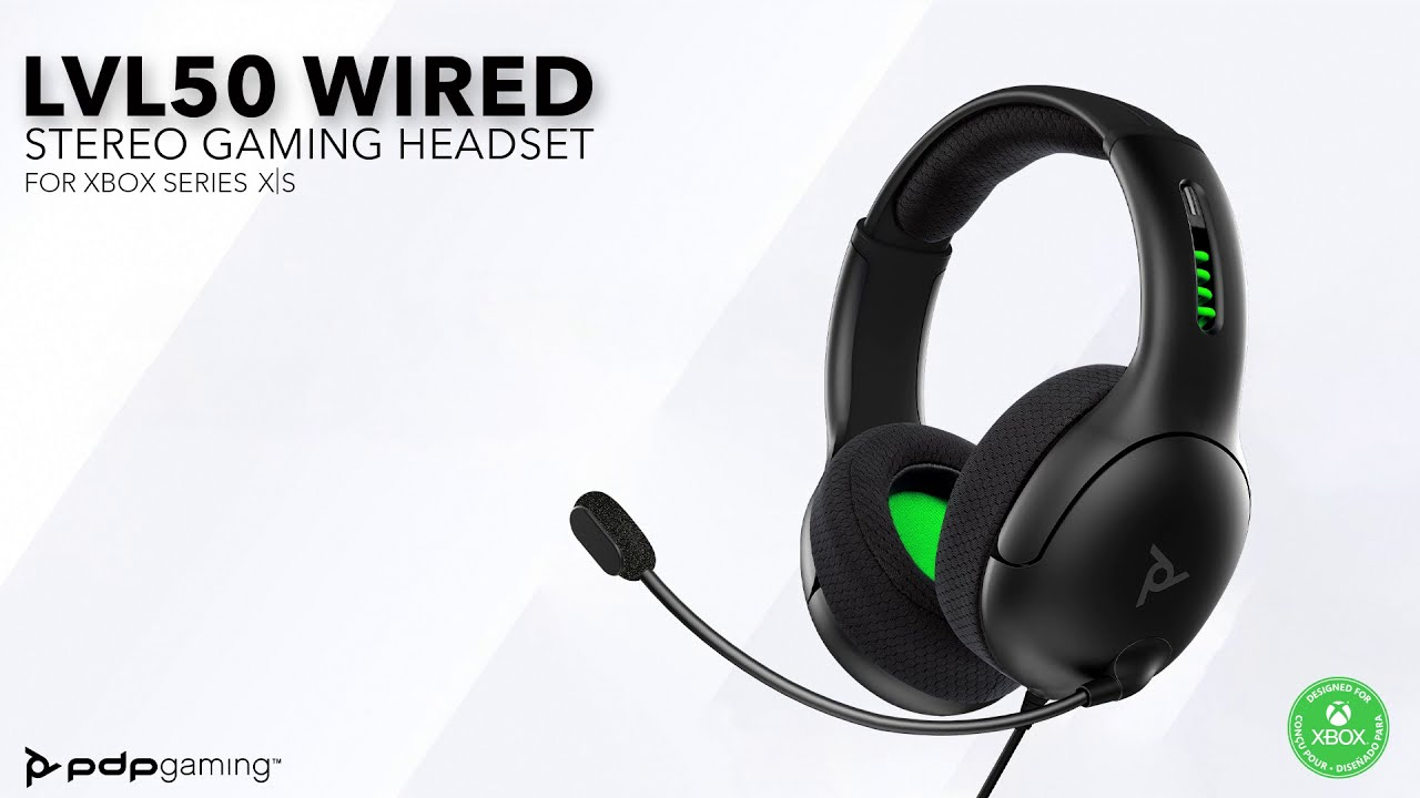 Level Up Your Game | LVL50 Wired Stereo Gaming Headset for Xbox