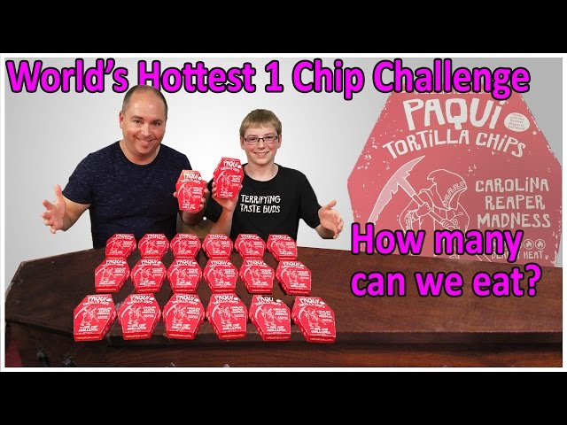 Worlds Hottest One Chip Challenge ... how many can we eat? : Crude Brothers