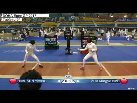 2018 79 F E Individual Doha QAT GP T64 16 red ZHU CHN vs SUN CHN