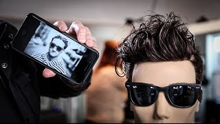 Casey Neistat Vlogger Haircut Tutorial | Disconnected Mens Haircut | MATT BECK VLOG 79