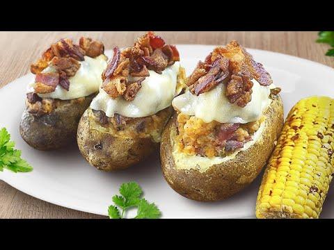 VLOG! Baked Potato filled with Steak/ Фаршированный картофель на гриле!