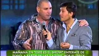 Showmatch 2010 - Hernán Piquín le enseña a La Mole un paso de baile