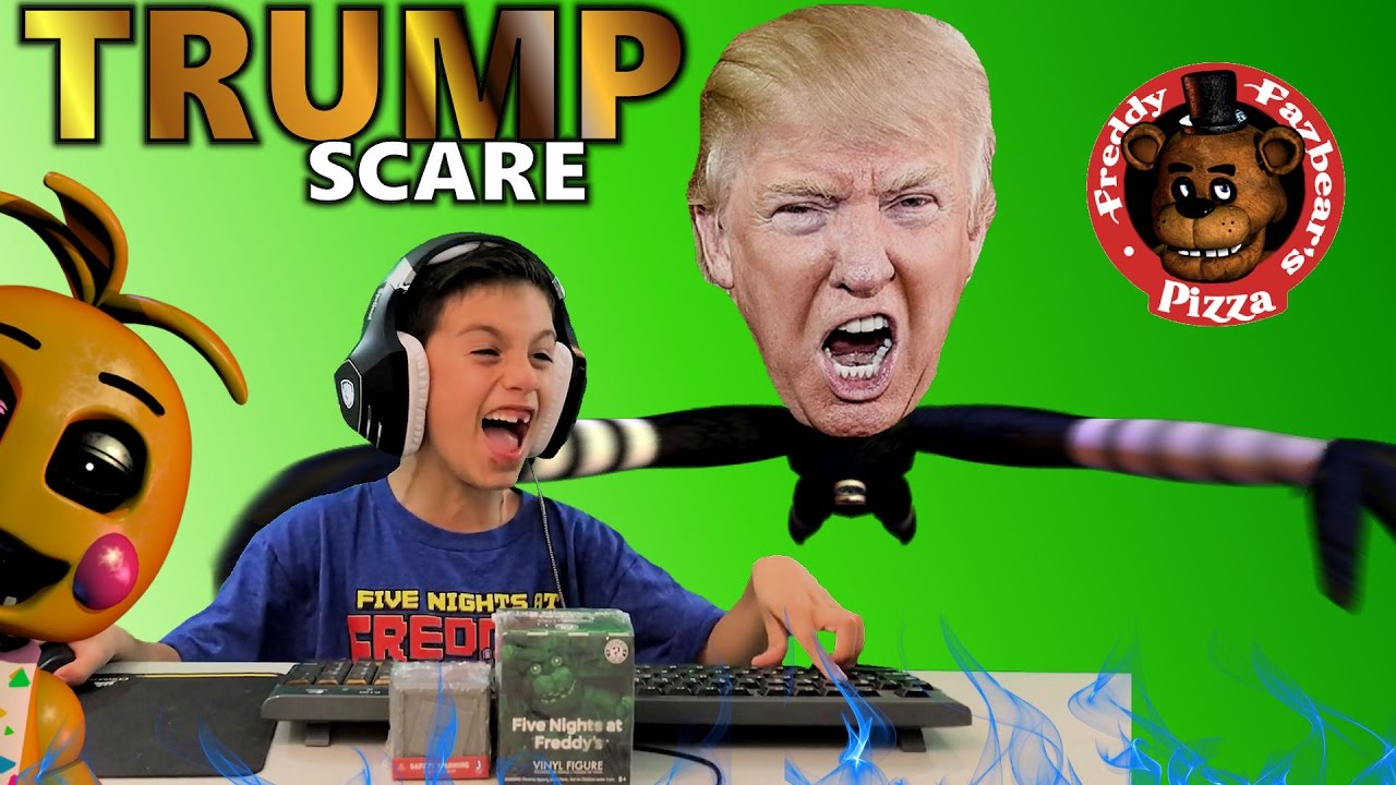 Five Nights At Freddy S In Roblox Trump Jump Scare Blind