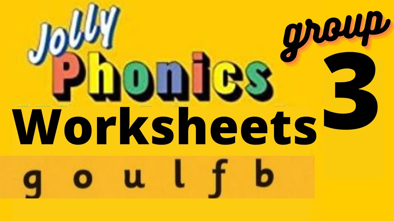 small resolution of Jolly phonics group 7 worksheets  sounding blending reading for ukg lkg  preschool grade 1 - YouTube
