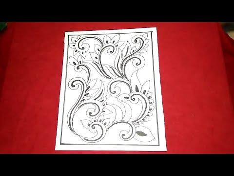Cara Menggambar Batik Motif Bunga 9 Youtube