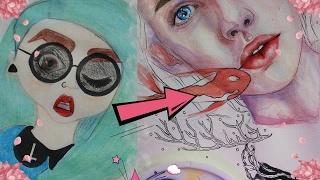 Мои старые рисунки: как я САМА научилась рисовать? | Акварель ♡